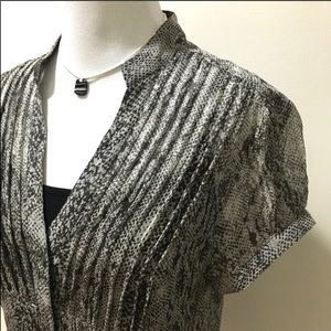 Express silk short sleeve blouse size M